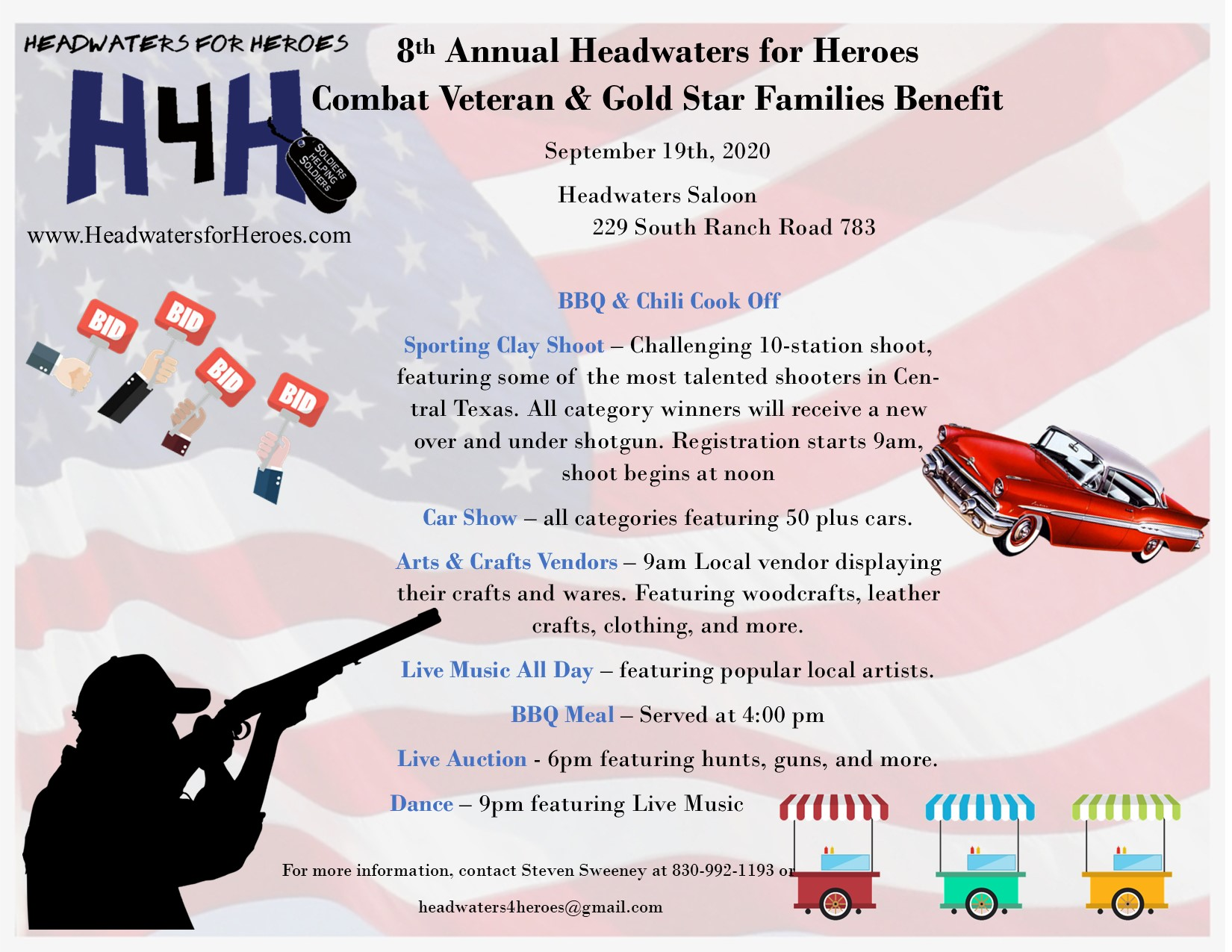 Headwater for Heros Event flyer